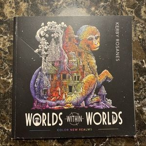 Worlds Within Worlds Adult Coloring Book